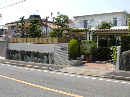 リフォーム・お庭のフェンス(竹垣フェンス)交換 名古屋市名東区 I様邸