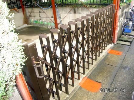 リフォーム・伸縮門扉の取付  名古屋市北区